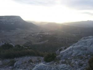 Le soleil se couche sur Vingrau